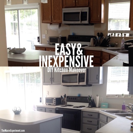 Diy Kitchen Makeover cait's easy & inexpensive diy kitchen makeover - the macro experiment